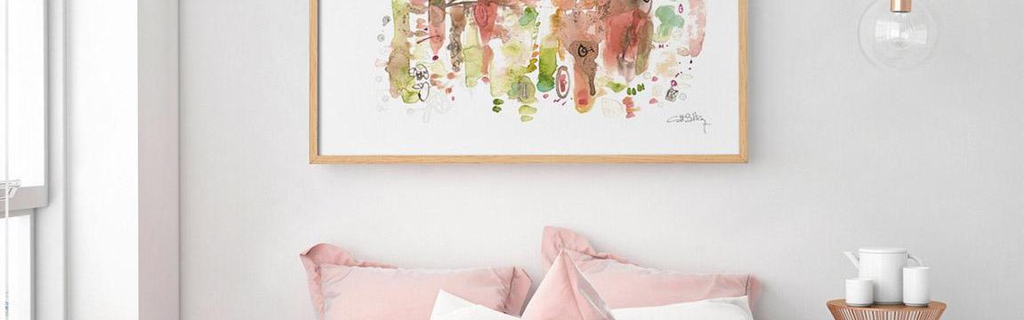 Jak si zútulnit byt? Vsaďte na obrázky a bytový textil