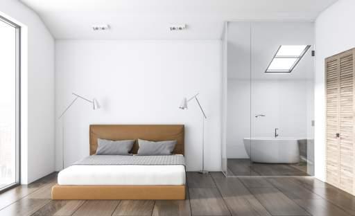 Z vany rovnou do postele aneb koupelna v ložnici