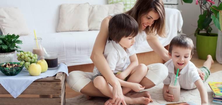 Obývací pokoj jako místnost rodinných her