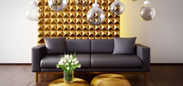 Stříbrná a zlatá v interiéru: Jak je správně sladit, abyste mohli mít obojí?